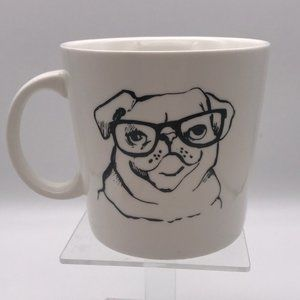 Catherine Malandrino Pug w/ Glasses Coffee Mug